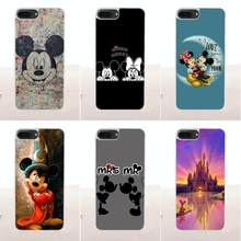 Bixedx amante Mickey Minnie Mouse para Huawei G7 G8 Honor 5A 5C 5X6X7 8 V8 mate 8 9 P7 P8 P9 P10 Lite Plus de sílice(China)