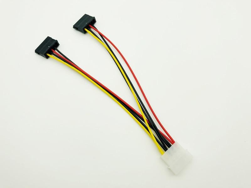 4Pin IDE Molex to 2 Serial ATA SATA Y Splitter Power Cable