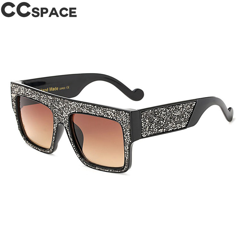 730d0ea7ef875 Bling Diamond Sunglasses Men Women Luxury Shades UV400 Oversized Square  Glasses Fashion Oculos 45602-in Sunglasses from Apparel Accessories on ...