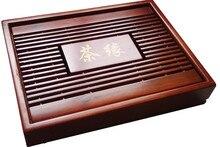 Chinesische Kung Fu Tee-Set Natürliche Holz Bambus Tee-tablett rechteckigen Roten & Brown holz Puer Tee Tablett Chahai Teetisch Heißer verkauf