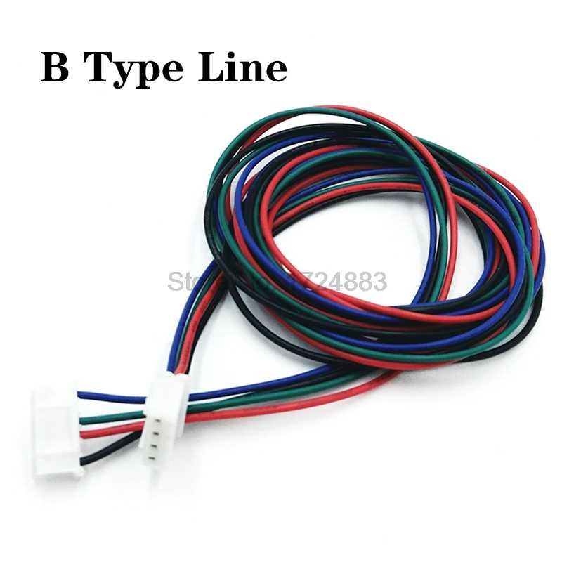 """צעד מנוע כבל DuPont4pin2.54 קו XH4pin2.54 4pin 100 ס""""מ 1 מטר כדי שחור לבן מסוף קו עבור מנוע צעד 3D מדפסת"""