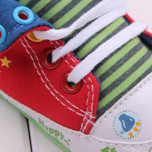 Cute Cartoon Printed Baby Kids High Shoes Casual Anti-Slip Toddler Walk Sneaker 4