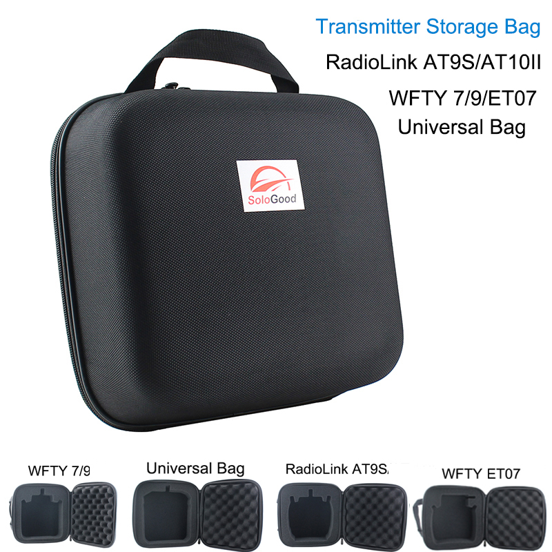 Waterproof Transmitter Remote Control Carrying Suitcase Case Hand Bag  for Radiolink AT9S WFT07 WFT09II BlackWaterproof Transmitter Remote Control Carrying Suitcase Case Hand Bag  for Radiolink AT9S WFT07 WFT09II Black