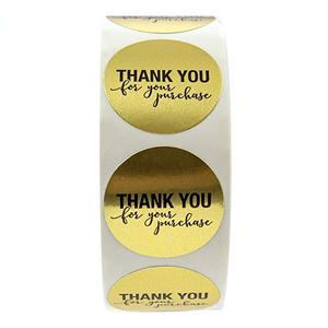 """Image 4 - 5 لفة مستديرة الذهب """"شكرا لك على الشراء"""" ملصقات ختم تسميات 500 تسميات ملصقات سكرابوكينغ ل القرطاسية ملصقا"""