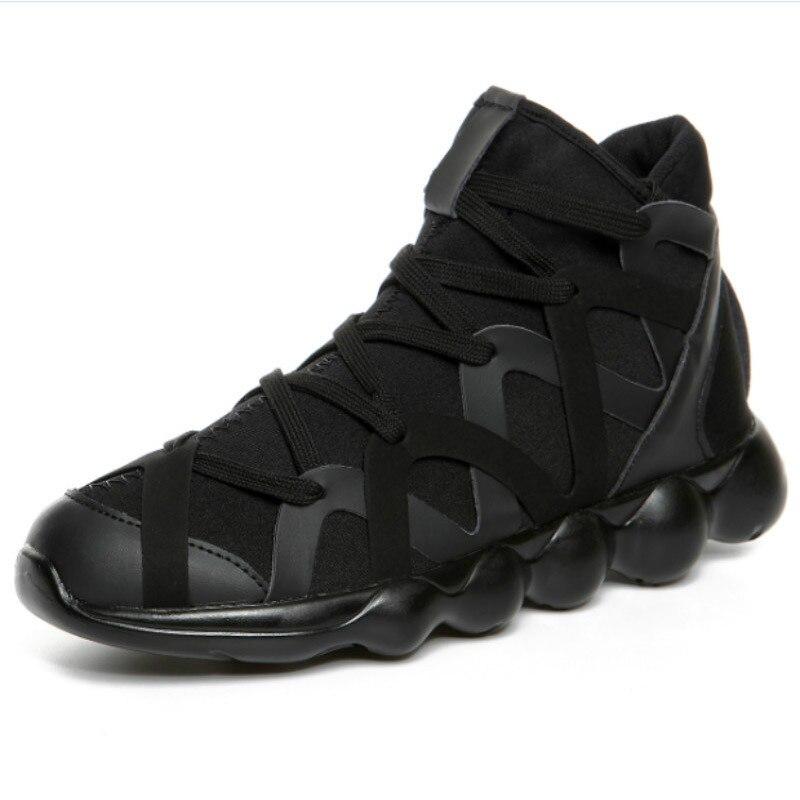 Men Women Sport Running Shoes High Tops Outdoor Sneakers Black White Red EU36-44 M04094
