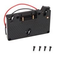 Goud Mount Batterij Camera Adapter Plaat Voor Panasonic Camcorder Power B Tap Anton Bauer Accu-in Batterij accesoires van Consumentenelektronica op