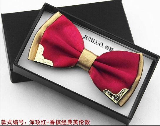 2015 New Fashion Business Bow Ties for Men Wedding Metal Bow Tie Wholesale Accessories Necktie Butterflies male 20 Color Hot