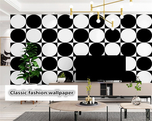 beibehang Personality Wallpaper Black White Modern Simple Nordic Geometric Living Room Bedroom Restaurant Background wall paper