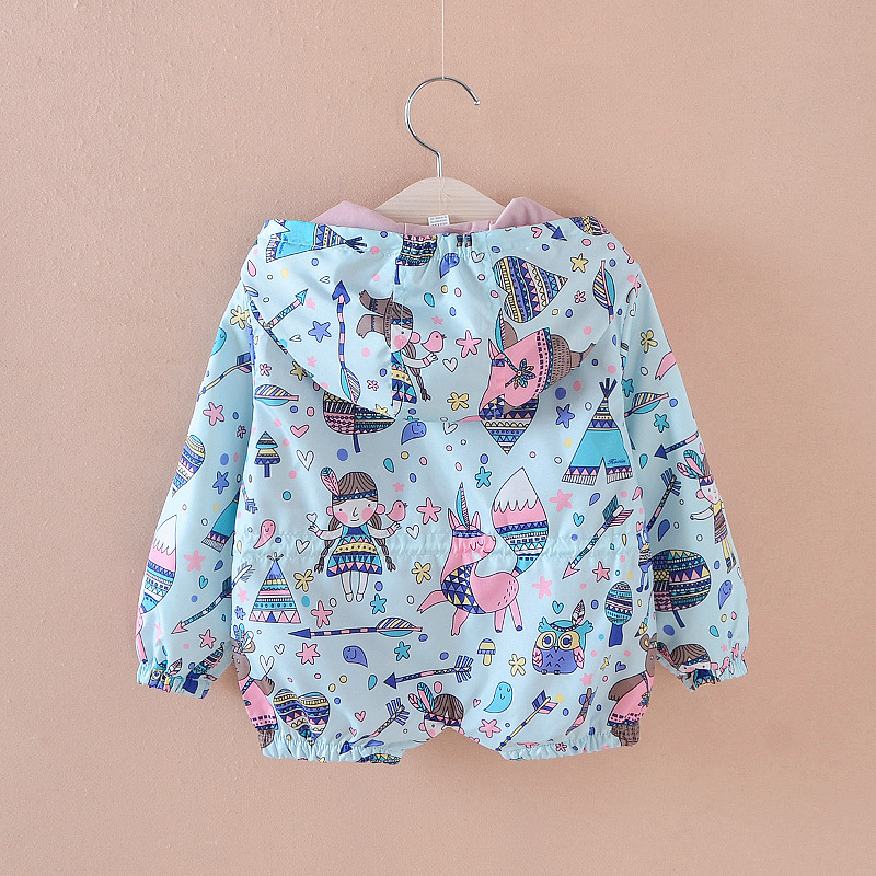 804e916c4 3 7T Baby Girls Jackets Hooded Windproof Kid s Clothing Cartoon ...