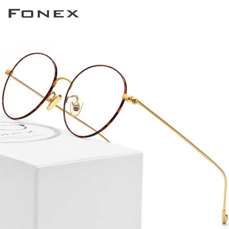 c50c155d16 Gafas de titanio puro montura para hombre gafas de prescripción redonda  gafas Vintage Retro miopía gafas