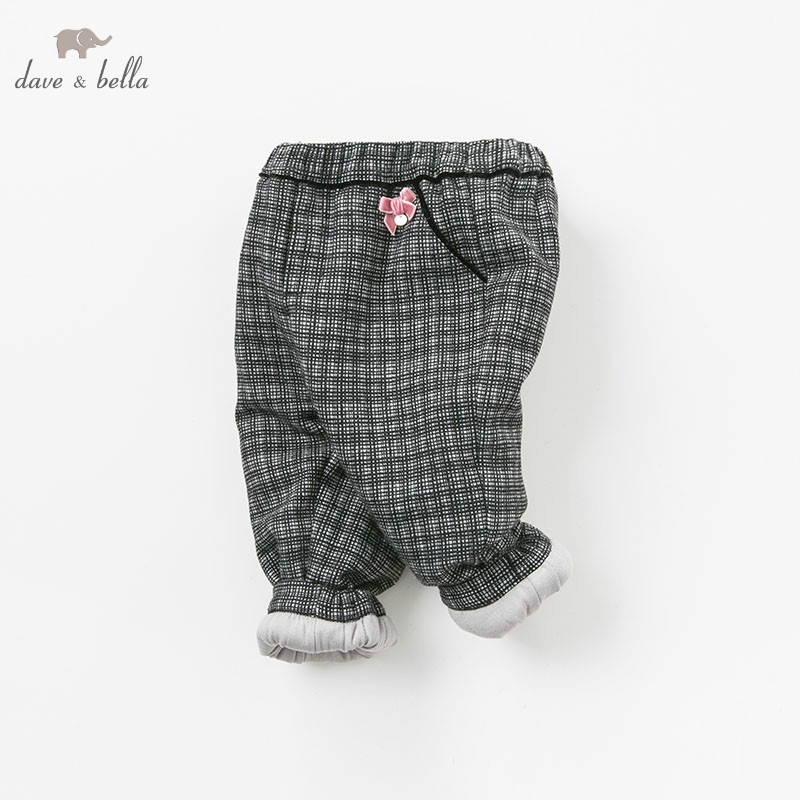 DB9231 dave bella winter baby GIRLS fashion padded trousers kids plaid pants children boutique clothes db6938 dave bella winter baby girls full length kids fashion pink pants children trousers