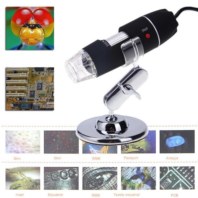 Portable USB Digital Electronic Microscope 8 LED Magnifier 3