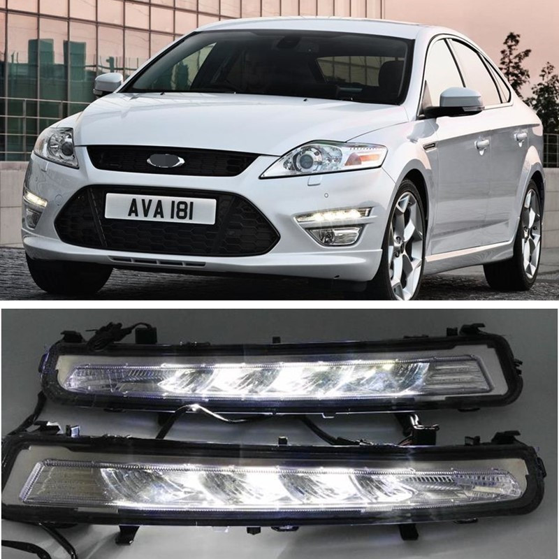 LED Car Light For Ford Mondeo 2011 2012 2013 2014 Car Styling New LED DRL Daytime Running Light Waterproof With Wire Of Harness 2pcs new car styling led daytime running light drl waterproof for hyundai accent 2012 2013