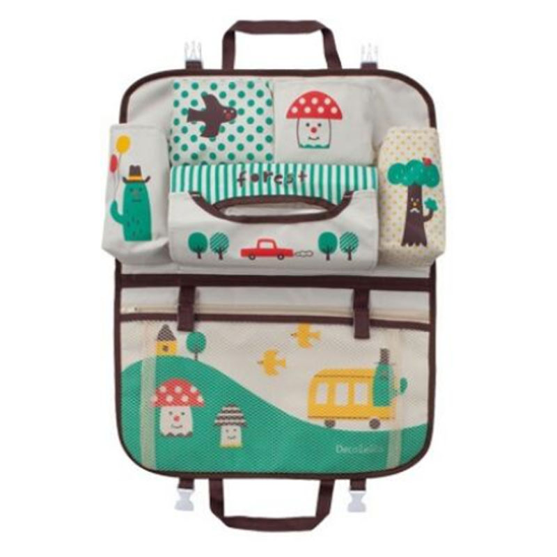 Home Storage Organization Cartoon Baby Diaper organizer Bags Travel organizador Baby Car Seat Hanging Storage Bag for Sundries in Storage Bags from Home Garden