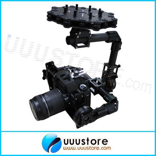 DYS BLG5D FPV 3 axis Eagle Eye Camera Mount  Brushless Aerial PTZ Gimbal with Motor and Controller RTF for DSLR Camera dys 3 axis gimbal mount kit 3pcs 4108 brushless motor 8bit alexmos controller for sony nex ildc camera photography fpv
