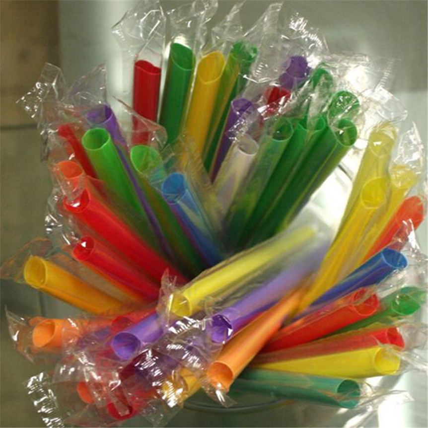 Lovely pet 50pcs Multicolor Long Straight Drinking Straws Home Bar Party Cocktail Drink Straw 915