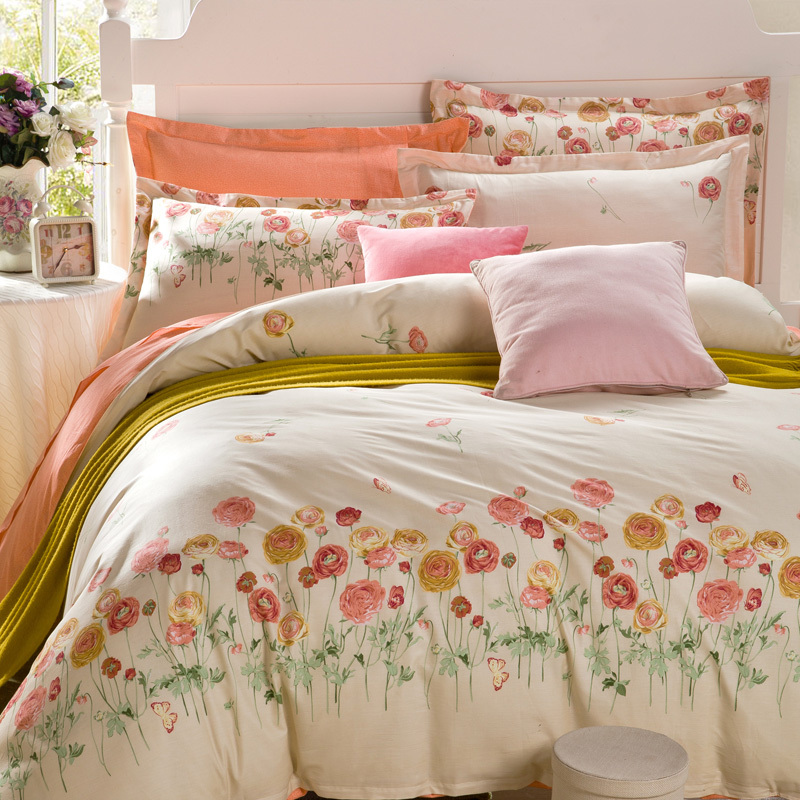 Reactive Printing Bedding Set 100 Cotton Fabric 4pcs