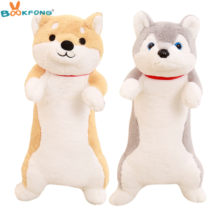 1pc Cute Plush Shiba Inu Husky Dog Toy Stuffed Dogs Puppy Doll Toys Kawaii Animal Pillow Cushion Birthday Gift Home Shop Decor 1pc 55cm cute fat shiba inu dog plush pillow stuffed soft cartoon animal toys lovely kids baby children christmas gift dolls