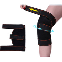 Professional Sports Safety Knee Support Brace Black Knee Pad Guard Protector Strap Breathable Warmth Knee Support