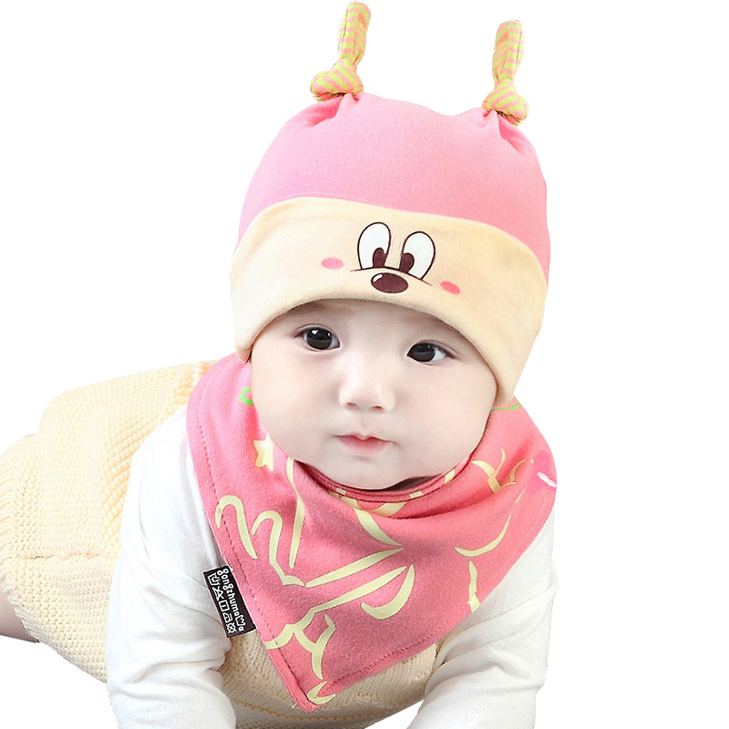 Cotton Baby Hat Set Newborn Baby Sleeping Hat Bunny Ears Solid Beanie Soft Comfortable Newborn Hat Autumn Baby Boys Clothing