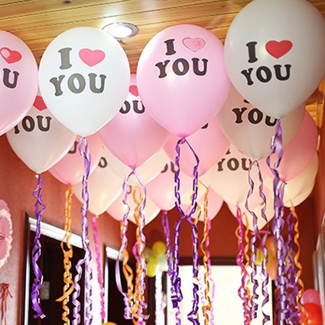 Top Sale 12 Inch Pearl Latex Balloon I Love You Balloons Christmas