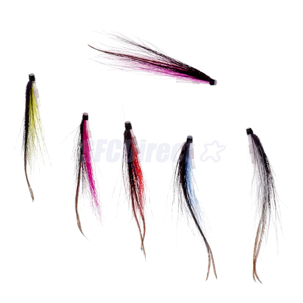 SUNRAY SHADOW SALMON FLIES TIED ON SIZE 12 /& 14 TREBLE HOOKS 4 OR 8
