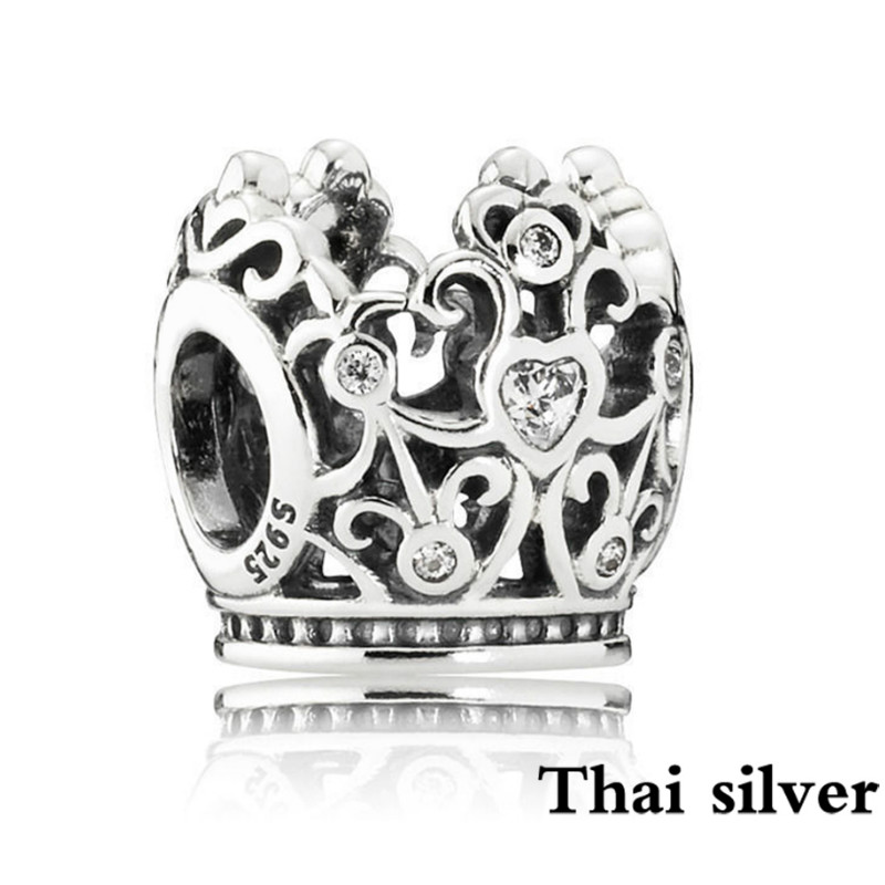 2019 Neue Thai Silber 791580 Prinzessin Krone Charme Feine Edelstein Perlen Diy Armband & Armreifen Schmuck, Der Valentinstag Geschenke Komplette Artikelauswahl