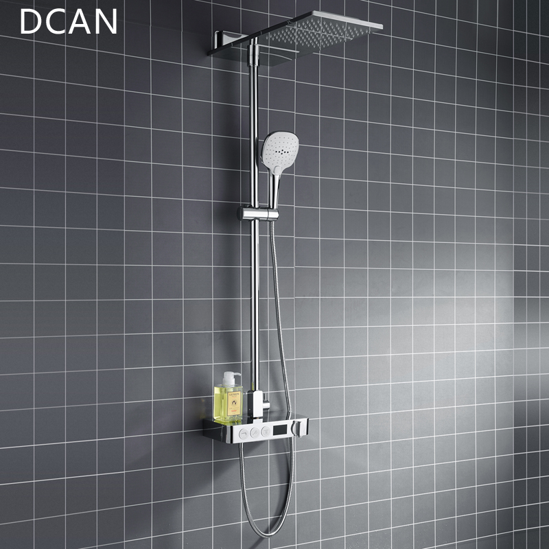 DCAN Multi Function Shower Faucet Shower System & LCD Digital ...