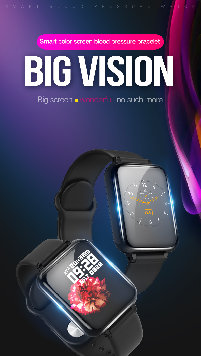 SMART watch | Full Touch Fitness Tracker | Blood Pressure Tracker | SMART Band | SMART Watch for Android | SMART Watch for iOS | High Quality | Best Selling | SMART Bracelet