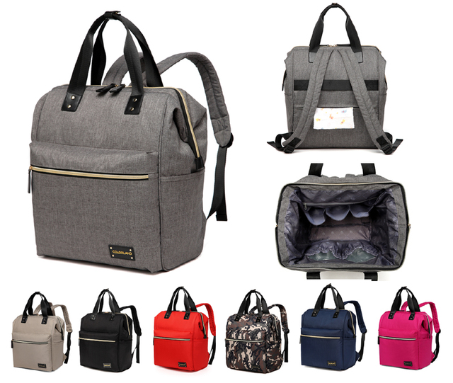 Colorland New Stylish Large Multi Function Backpack Tote Baby Diaper Bag Ny Changing