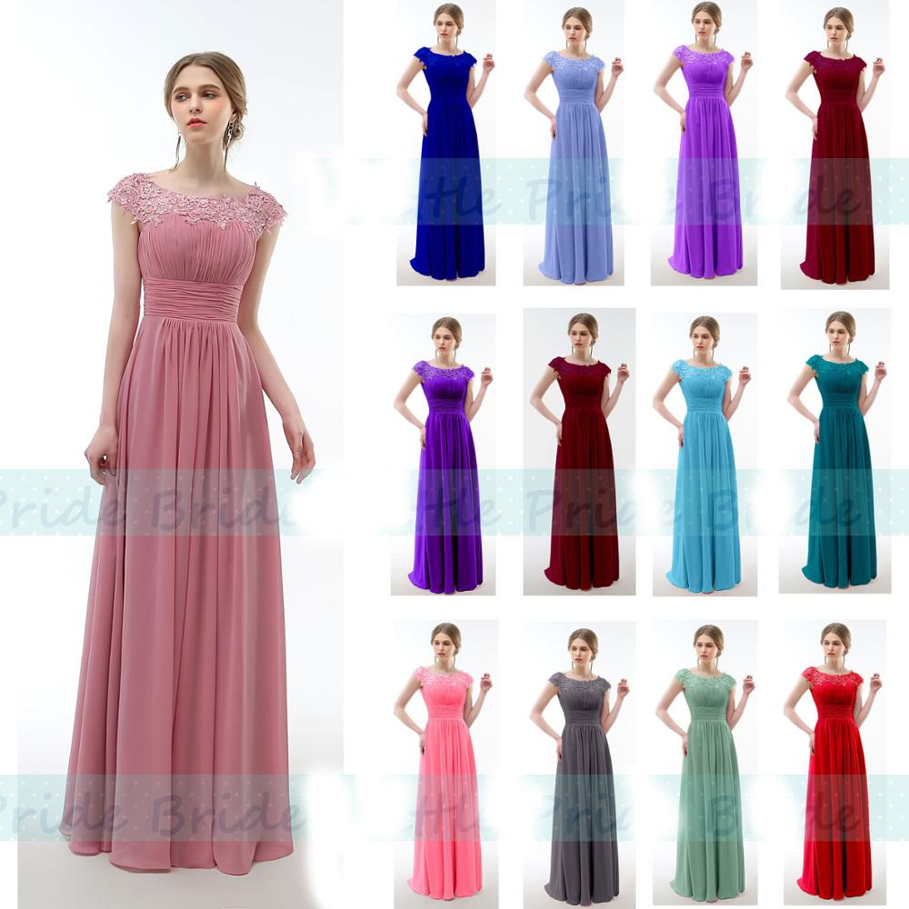 A-line Scoop Chiffon Applique Beading elegant off-shoulder cheap   bridesmaid     dresses   Wedding party   dresses   robe de soiree Lace Up