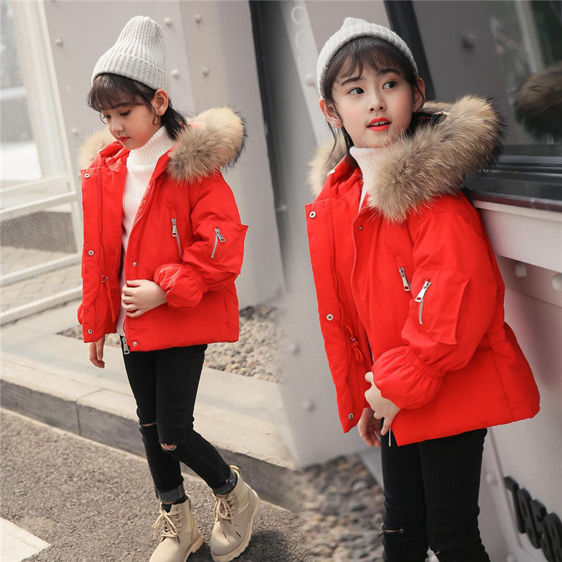 Children Winter Clothes For Girl Down Jacket Girl Clothes 2018 Kids Thick Warm Coat Parka Hooded Outwears Children Clothing children girl winter parka down coats girls winter coat thick warm fur hooded cotton padded warm jacket kids clothes outwears