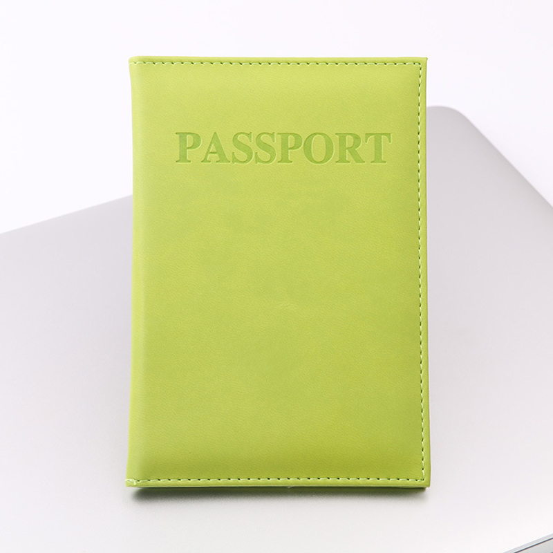 BONAMIE 11 Colors Unisex Travel Passport Cover For Female Pu Leather Green Passport Holder Male Girl Travel Covers For Passports