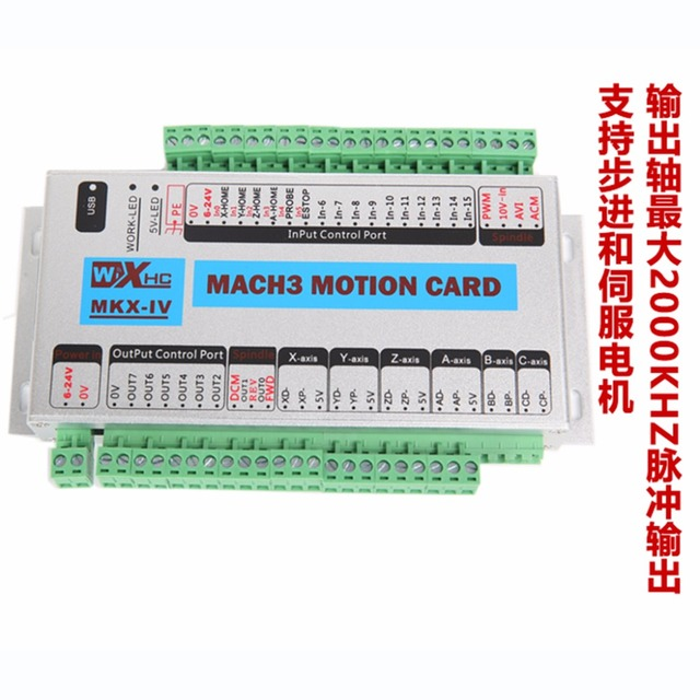 US $188 69 |Upgrade XHC MK4 IV CNC Mach3 USB 4 Axis Motion Control Card  Breakout Board 2000KHz 4th generation-in Motor Driver from Home Improvement  on