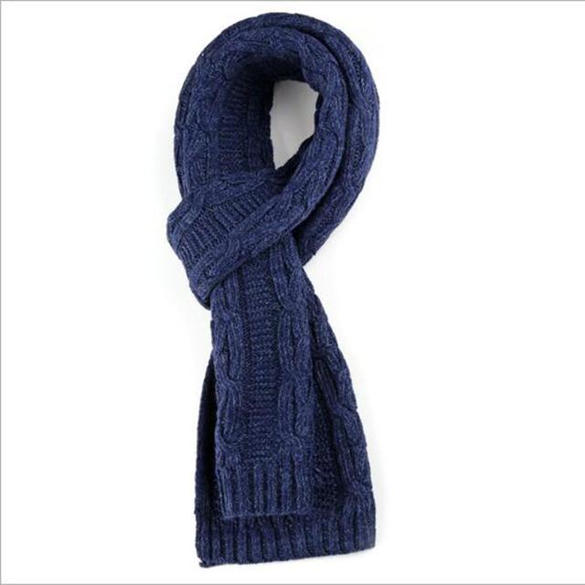 Estilo de negocios o casual hombres bufanda caliente cómodo sólido bufanda hombres bufanda de invierno de lana de buena calidad