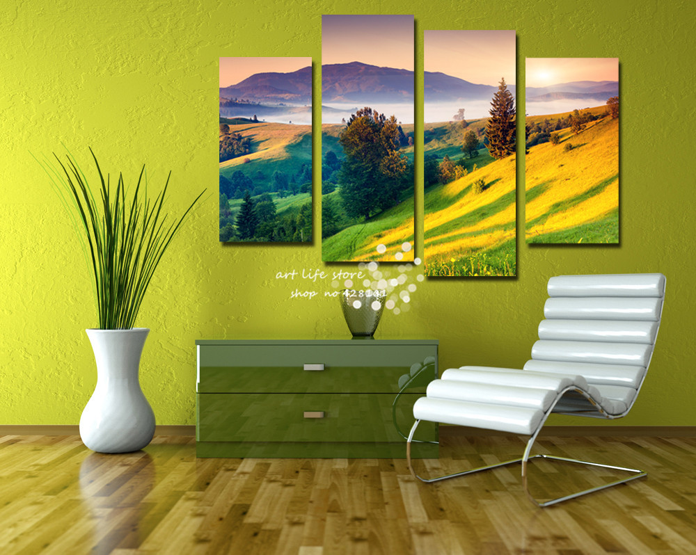Famous 4 Piece Wall Art Canvas Pictures - Wall Art Collections ...