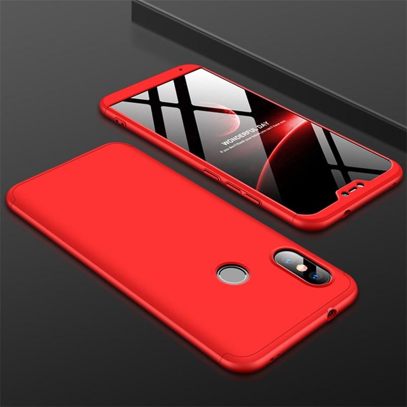 HTB1DYOTXvfsK1RjSszgq6yXzpXa2 3-in-1 Case 360 for Xiaomi Mi A2 A3 lite Mi A2 A1 Phone Case Hard for Xiaomi Mi A1 A2 A3 Cover Tempered Glass Case Fully Cover