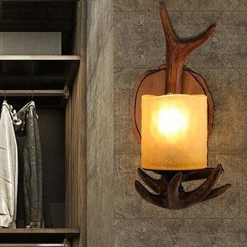 미국 로프트 스타일 수 지 유리 벽 sconce 빈티지 벽 빛 홈 골동품 산업 led 벽 램프 실내 조명