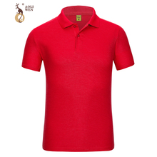 Aoliwen Genuine brand men polo shirt summer Short sleeve cotton Solid high quality Business Casual shirts Breathable Sweat