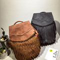 New Fashion Women&Girl Fringe Tassel Backpack School Bags Leather Shoulder Bag