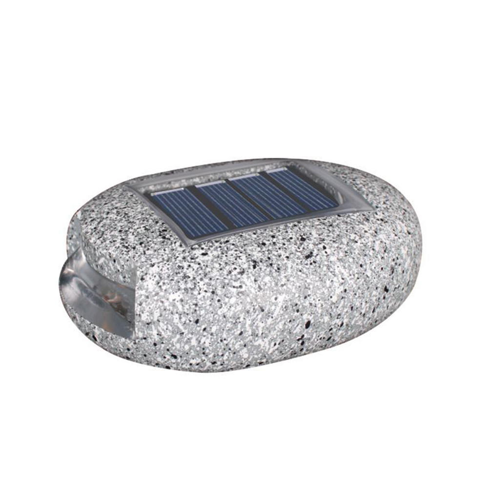 Gartenleuchten Rattan 13cm Simulation Resin Stone Solar Panel Led Spike Light Landscape