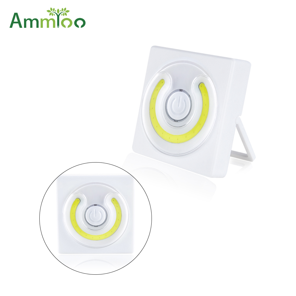 Impartial Ammtoo Mini Portable Cob Led Book Light Battery Power Lampara Led Reading Lamp White Color For Children Study Office Work Let Our Commodities Go To The World Lights & Lighting