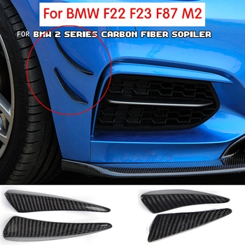 Front Bumper Side Canards Fins Trims Splitter Spoiler Carbon Fiber for BMW E90 E92 E93 F30 F32 F36 F10 G30 F06 F12 F13 F15 F16 image
