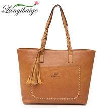 016be9da38 Factory Direct Sales 2018 Vintage Tassel Bags Women Handbag PU Leather  Shoulder Bags Designer Big shopping