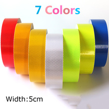 5cm*2/3/5/10m Glossy Sheets Honeycomb Lattice Reflective Tape Sticker Automobile Vehicle Truck Motorcycle Warning Film DIY Decal