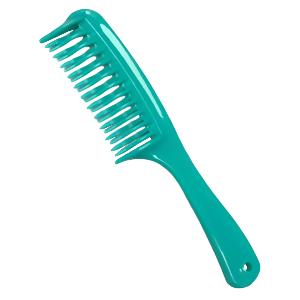 Double Row Tooth Detangler Hair Comb Shampoo Comb With Handle For Long Curly Wet Hair
