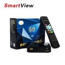 S-V6 Original Mini Receptor de Satélite Digital S V6 con AV Soporte de salida HDMI 2 2xusb WEB TV USB Wifi 3G Biss clave