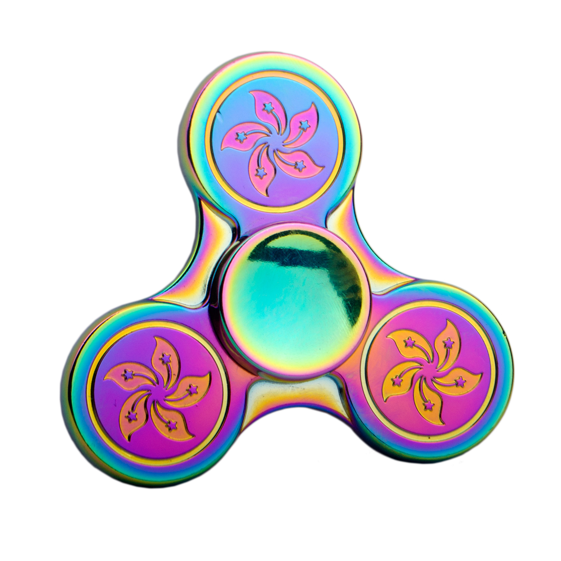 Best Toy Hand Spinner Colorful Rainbow Metal Triple Fidget Spinner Anti Stress New Year Gift Toys Gift Man Finger Toys