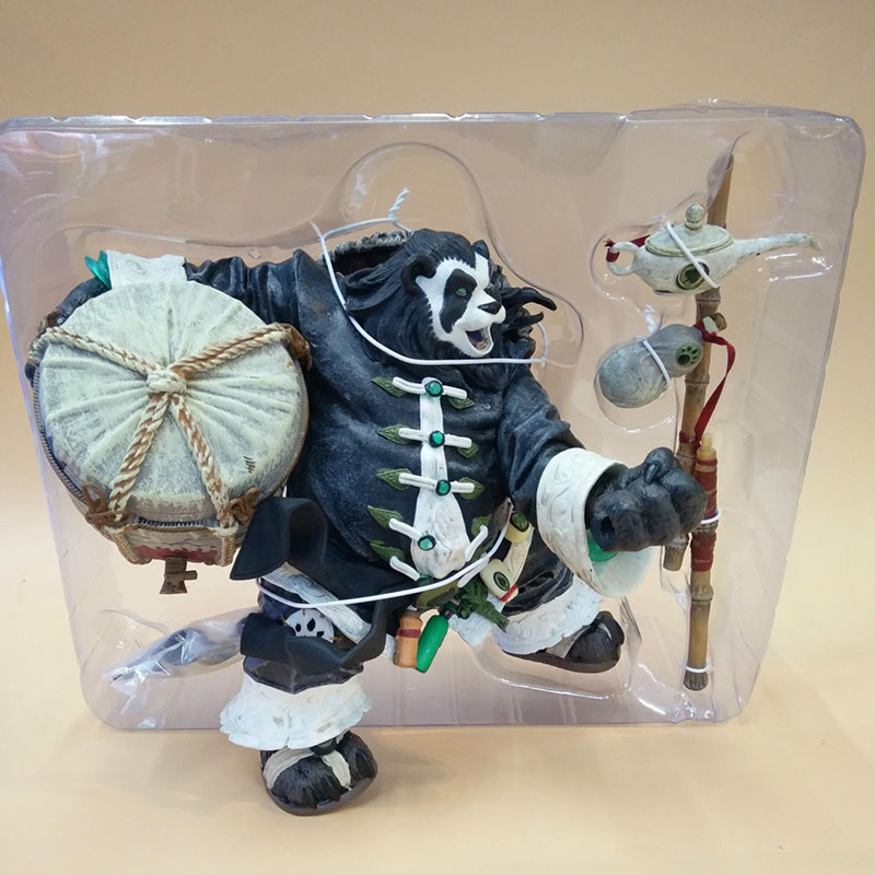 20CM Chen Stormstout Action Figure 1/8 Anime Game World of War WOW The Pandaren anime figurines model toys for children Gift 5