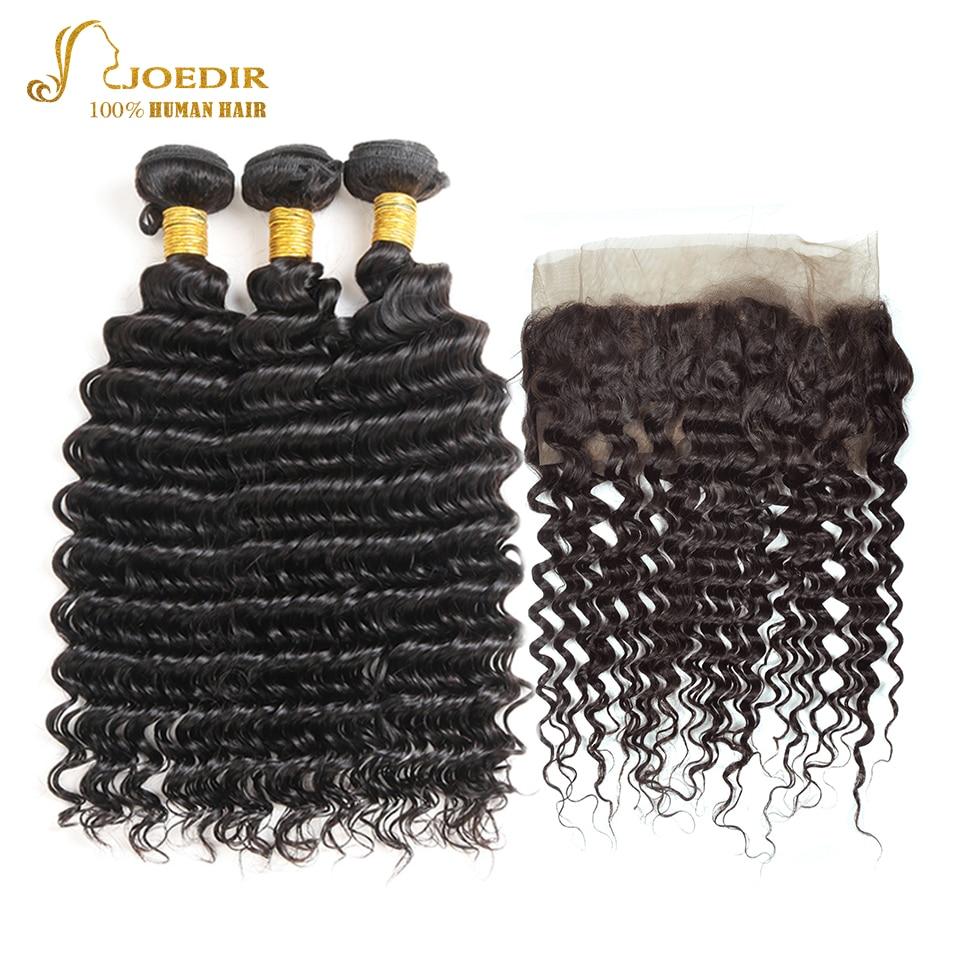 JOEDIR Hair Deep Wave 3st Human Hair Bundles With Closure 360 - Barbershop - Foto 1